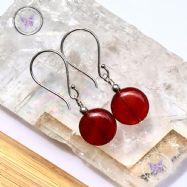 Carnelian Coin Earrings